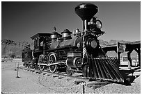 Locomotive, Old Tucson Studios. Tucson, Arizona, USA ( black and white)