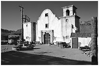 Adobe, Old Tucson Studios. Tucson, Arizona, USA (black and white)