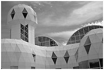 Tower. Biosphere 2, Arizona, USA ( black and white)