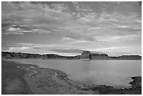 Wahweap Bay, Lake Powell, Glen Canyon National Recreation Area, Arizona. USA ( black and white)