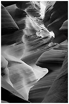 Lower Antelope Canyon. Arizona, USA ( black and white)