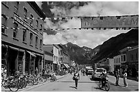 Main street. Telluride, Colorado, USA ( black and white)