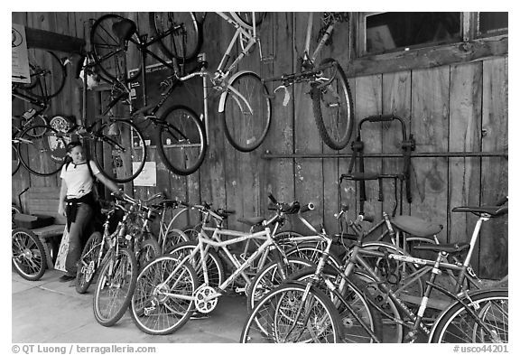 Bike shop. Telluride, Colorado, USA (black and white)