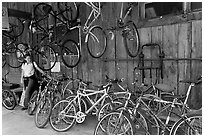 Bike shop. Telluride, Colorado, USA ( black and white)