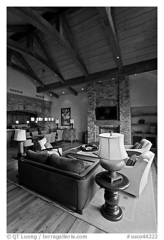 Luxury residence, Peaks resort. Telluride, Colorado, USA (black and white)