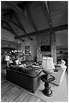 Luxury residence, Peaks resort. Telluride, Colorado, USA ( black and white)