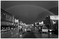 Main street with rainbow. Telluride, Colorado, USA ( black and white)