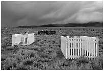 Graveyard, Villa Grove. Colorado, USA (black and white)