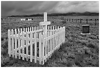 Cemetery, Villa Grove. Colorado, USA (black and white)