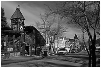 Main street, Estes Park. Colorado, USA ( black and white)