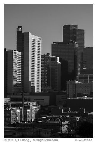Downtown. Denver, Colorado, USA (black and white)