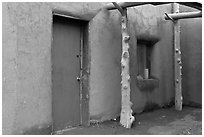 Door and window. Taos, New Mexico, USA ( black and white)