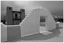 San Geronimo (St Jerome) church. Taos, New Mexico, USA ( black and white)