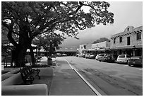 Plazza and shops. Taos, New Mexico, USA ( black and white)