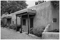 Las Casitas. Taos, New Mexico, USA (black and white)
