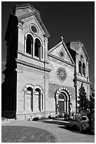 Cathedral Basilica of St Francis de Assisi. Santa Fe, New Mexico, USA ( black and white)