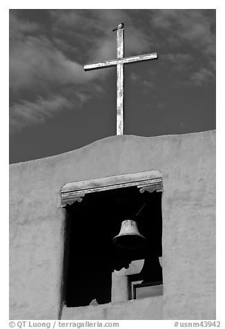 Bell tower, Chapel de San Miguel. Santa Fe, New Mexico, USA