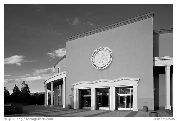 New Mexico State Capitol. Santa Fe, New Mexico, USA (black and white)