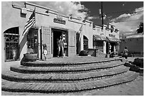 Adobe store, old town. Albuquerque, New Mexico, USA ( black and white)