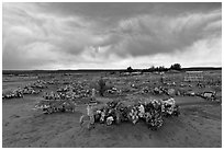 Cemetery, Thoreau. New Mexico, USA (black and white)