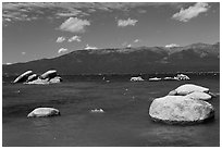 Boulders, Sand Harbor, Lake Tahoe-Nevada State Park, Nevada. USA ( black and white)