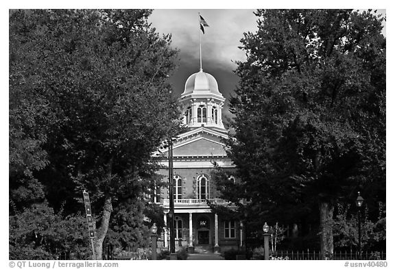 Nevada State Capitol. Carson City, Nevada, USA (black and white)
