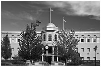 Nevada State Legistlature building. Carson City, Nevada, USA ( black and white)