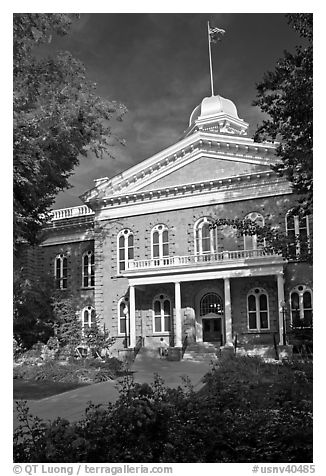 Nevada Capitol building. Carson City, Nevada, USA (black and white)