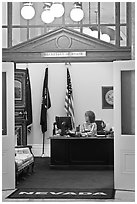 Office of the Secretary of State inside Nevada State Capitol. Carson City, Nevada, USA ( black and white)