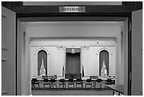 Assembly room inside Nevada State Capitol. Carson City, Nevada, USA ( black and white)