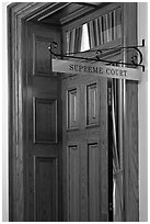 Door to Nevada Supreme court. Carson City, Nevada, USA ( black and white)