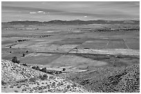Agricultural lands, Carson Valley. Genoa, Nevada, USA ( black and white)
