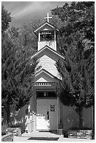 Church. Genoa, Nevada, USA ( black and white)