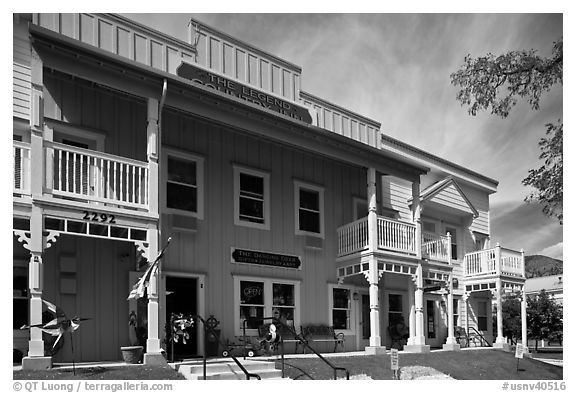 Country Inn. Genoa, Nevada, USA (black and white)