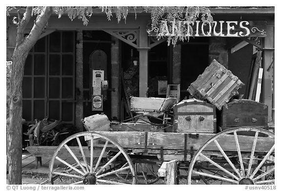 Black and white picture photo antique store genoa nevada usa