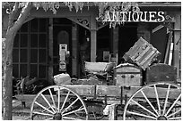 Antique store. Genoa, Nevada, USA ( black and white)