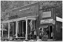 Genoa saloon and trading company. Genoa, Nevada, USA ( black and white)