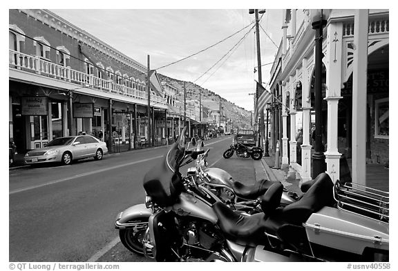 Main street. Virginia City, Nevada, USA (black and white)