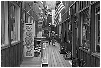 Alley. Virginia City, Nevada, USA (black and white)