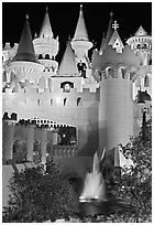 Excalibur. Las Vegas, Nevada, USA (black and white)