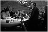 Casino table game. Las Vegas, Nevada, USA (black and white)
