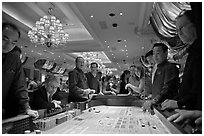 Casino craps game. Las Vegas, Nevada, USA ( black and white)