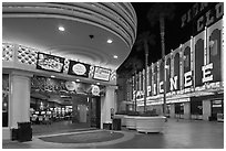 Casinos on Freemont Street. Las Vegas, Nevada, USA ( black and white)
