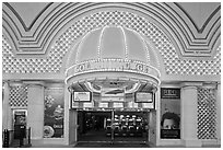 Golden Nugget Casino, Freemont Street, downtown. Las Vegas, Nevada, USA (black and white)