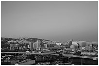 Reno skyline at dawn. Reno, Nevada, USA ( black and white)