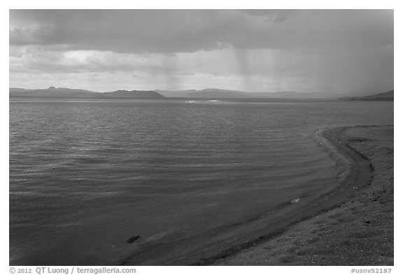 Approaching storm. Pyramid Lake, Nevada, USA (black and white)