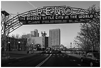 Original Reno Arch. Reno, Nevada, USA ( black and white)