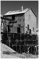 Mining building. Nevada, USA (black and white)