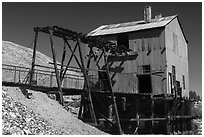 Historic mining building. Nevada, USA (black and white)