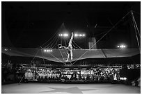Acrobat, Circus Circus casino. Reno, Nevada, USA ( black and white)